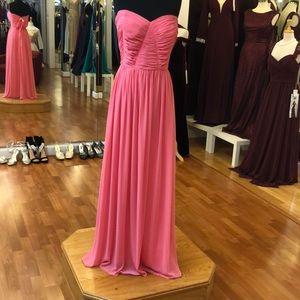 Bridesmaid dress, coral pink